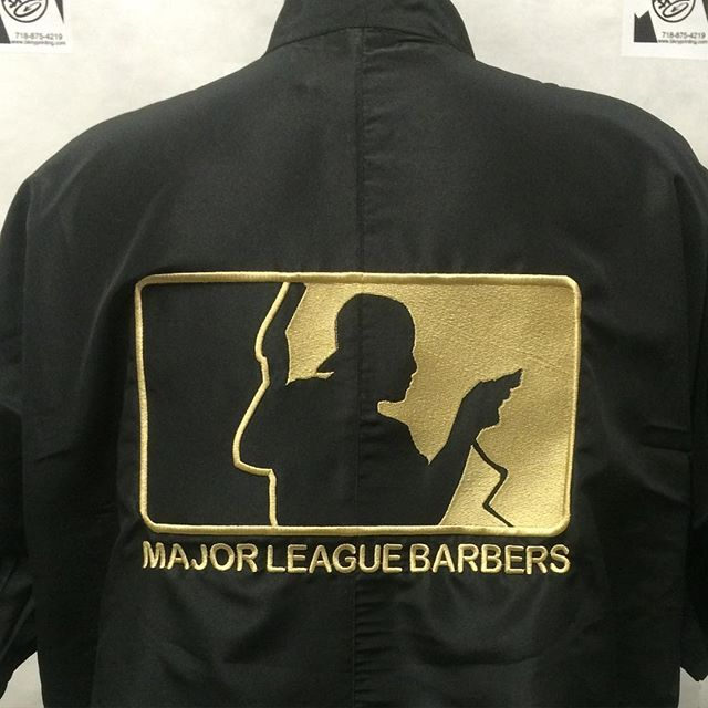 Embroidery barber jackets tshirtlife barberlife