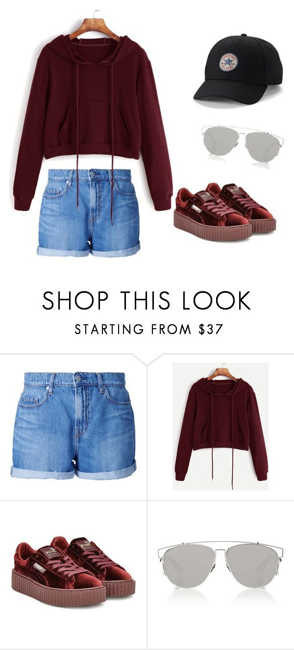 #OOTD39 by salbiylaazzara-fashion on Polyvore featuring Nobody Denim, Puma, Converse and Christian Dior