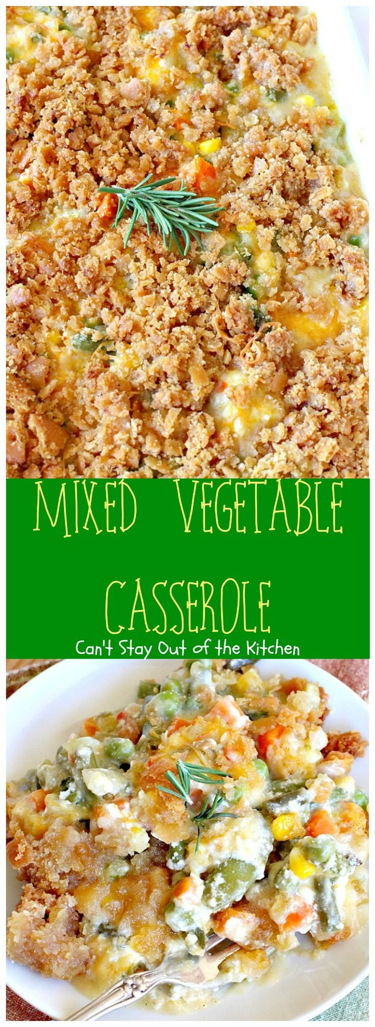 Mixed Vegetable Casserole | Can't Stay Out of the Kitchen | this is a scrumptious