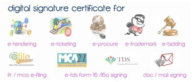 Digital Signature Certificate Provider   Class 2   Class 3   DGFT   USB Token