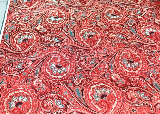 Red Paisley Brocade. Black Paisley Fabric. Chinese by fabricAsiansfabricAsians.etsy.com COUPON: Trulyhandmade