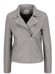 Obrázek Šedá kožená bunda Selected Femme Marlen