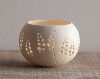 porcelain candle holder design N.8. Wedding candle holder. Porcelain Tea light Delight Collection by Wapa Studio.