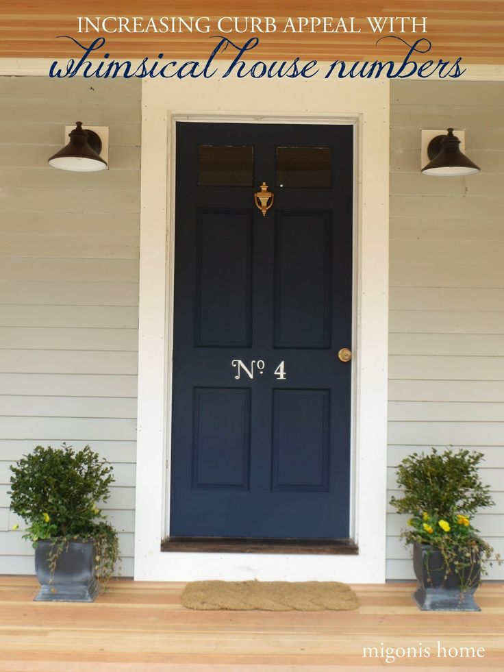 Increase curb appeal by adding whimsical house numbers (inspired by the very first Blueprint magazine!)