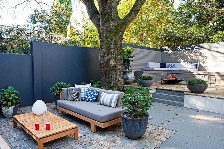My Backyard, Outer Spaces! The texture of these Cobblestones define the lounge area of this garden oasis. Garden Vision Adam Robinson, Homes+ September 2015.