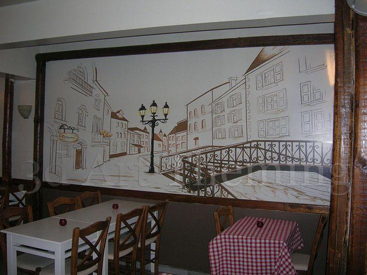 τοιχογραφία σε ταβέρνα