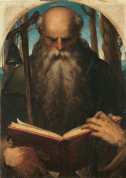 Sant'Antonio Abate.  Pinacoteca Nazionale di Siena.  1538-1540