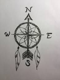 compass/dreamcatcher back tattoo I reallllly want this! It incorporates two tattoos I want into one. Perfect #travel