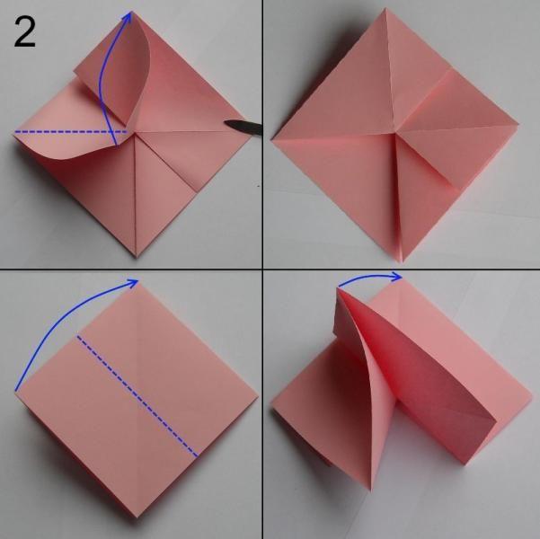 rose aus papier falten blumen basteln anleitung dekoking com 2 papier rose 1 pinterest. Black Bedroom Furniture Sets. Home Design Ideas