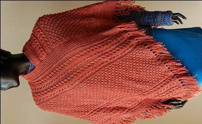 Irish Patterned Poncho - Merino 5 Superwash - free knitting  pattern - Crystal Palace Yarns