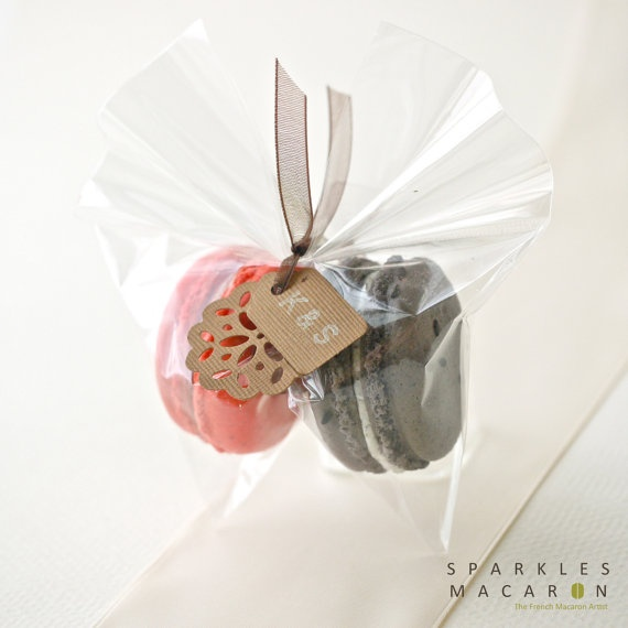 Clear Bag with Tag Macaron Favor