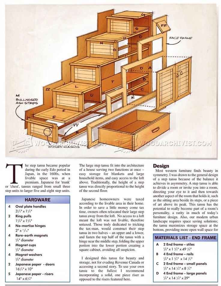 japanese furniture plans. Step Tansu Plans - Furniture Japanese U