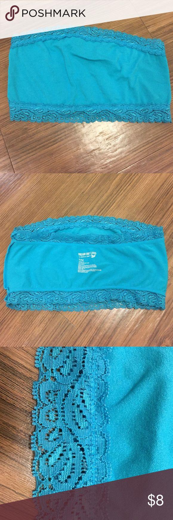 Blue bandeau top. Size M Blue bandeau top. Size M Intimates & Sleepwear Bandeaus