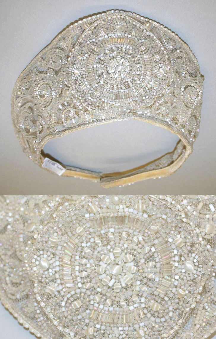 Detail of Wedding headdress, crystal beaded embroidery, 1926 Image © The Metropolitan Museum of Art