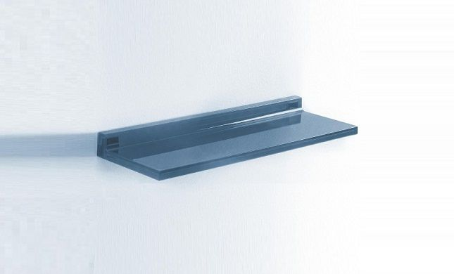 Shelfish Shelves by Kartell. There can never be enough shelves. Made of transparent methacrylate, this shelf can be attached to the wall with special plugs and their plastic supports.
