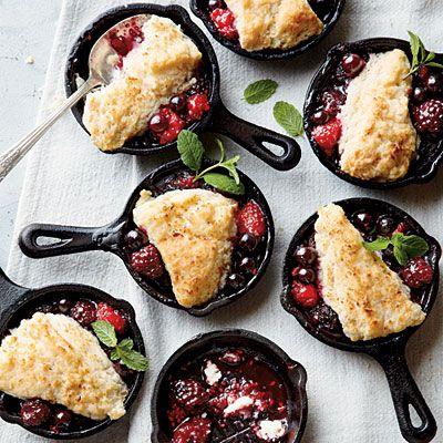 mini berry cobblers   photo by jennifer davick