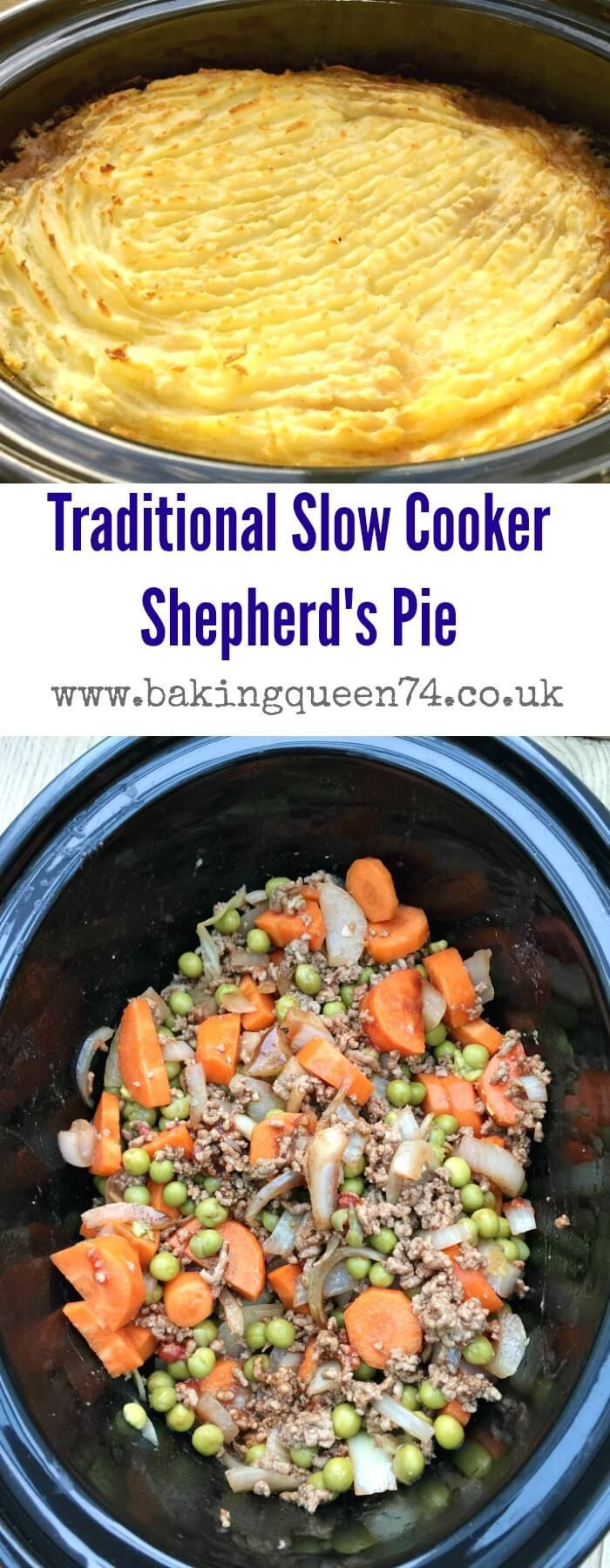 Slow cooker shepherd's pie recipe