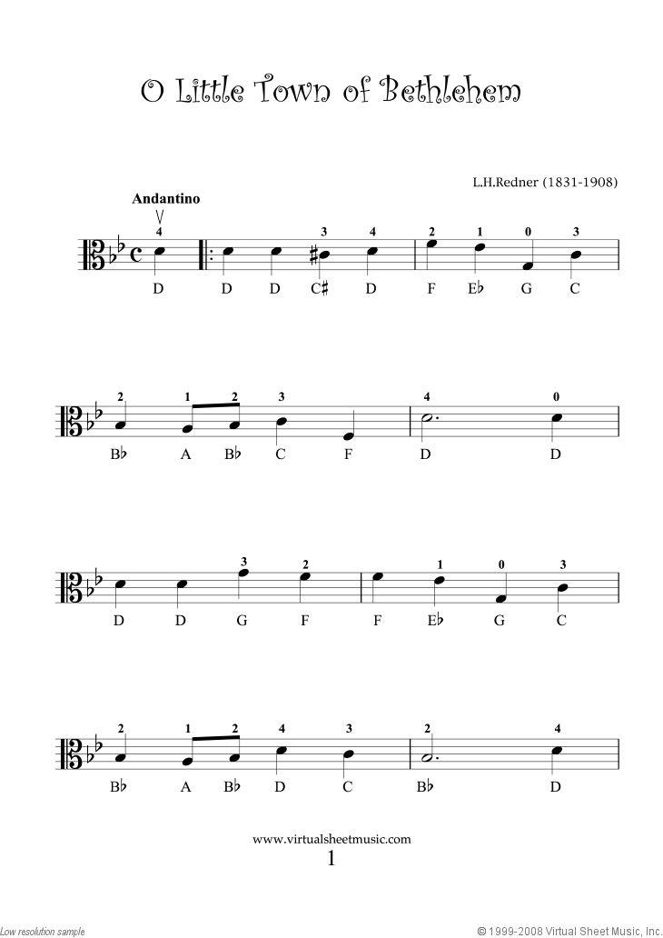 Very Easy Christmas Viola Sheet Music Songs, Printable ...