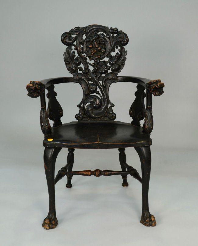 Carved Oak Arm Chair Bearing The Homer Label R. J. Horner & Co., Furniture  Makers - 484 Best Gorgeous Furniture Images On Pinterest Antique