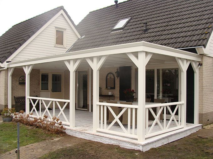 Garden pleasure: larch wooden veranda, roof with epdm, roof girdles, polycarbonaa …   – House 1.0