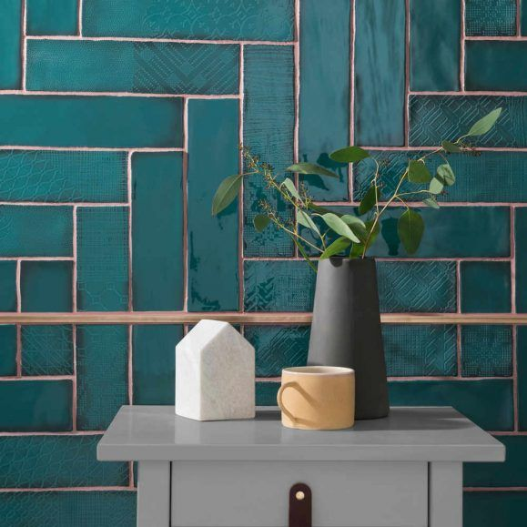Interior Color Trend 2020 Dark Teal In Design Topps Tiles Tile Trends Tile Bathroom