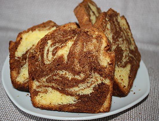 Рецепт - Мраморный кекс