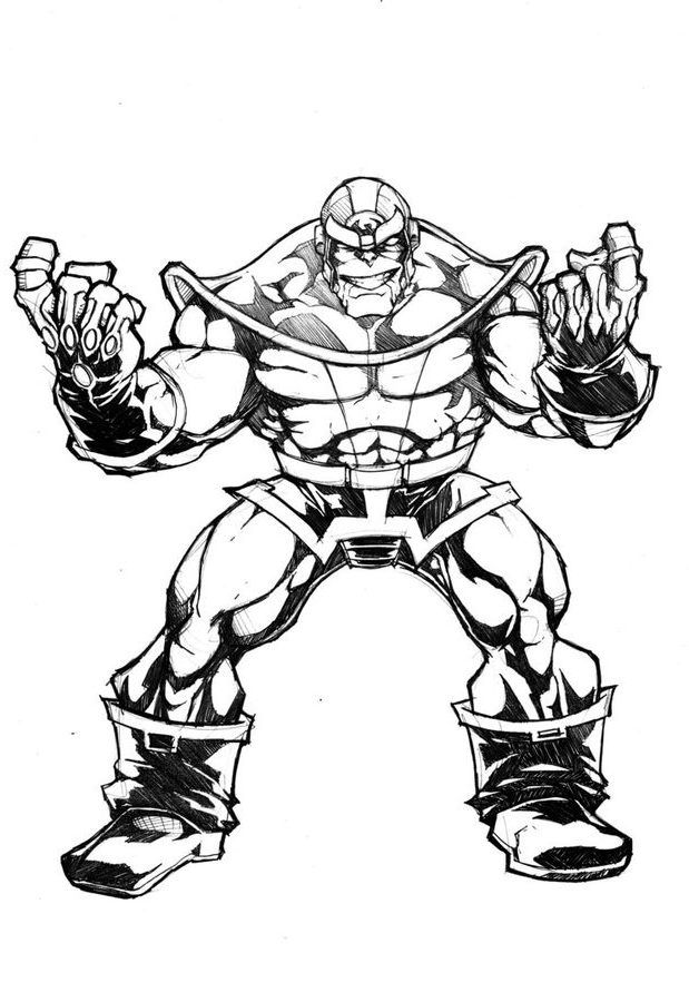 10 Beste Ausmalbilder Thanos Kostenlos Marvel Com Imagens