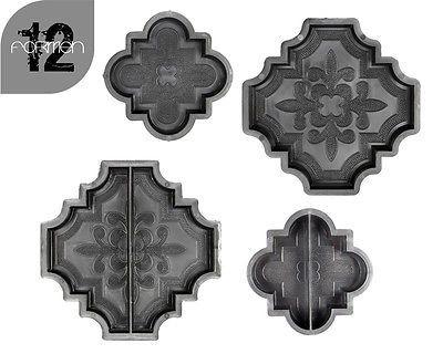 12 Gießformen Schalungsformen Pflastersteine Beton Mosaiksteine Orient