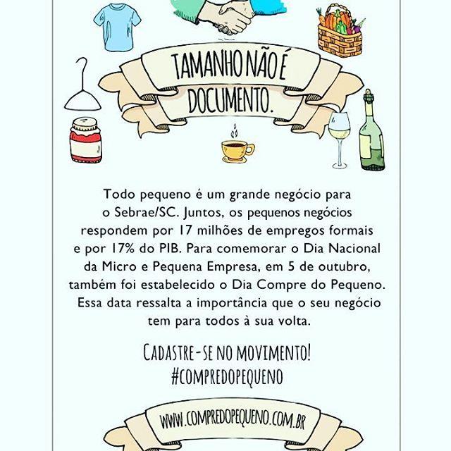 Eu apoio!!! . . #compredopequeno #compredequemfaz #economiacolaborativa #microempresa #mei #sebrae #sebraesc #empreendedorismo  #sucodenuvem #leveza #delicadezas #fofuras #DIY #decor #arte #lardocelar #cores #sonhos #slowlife