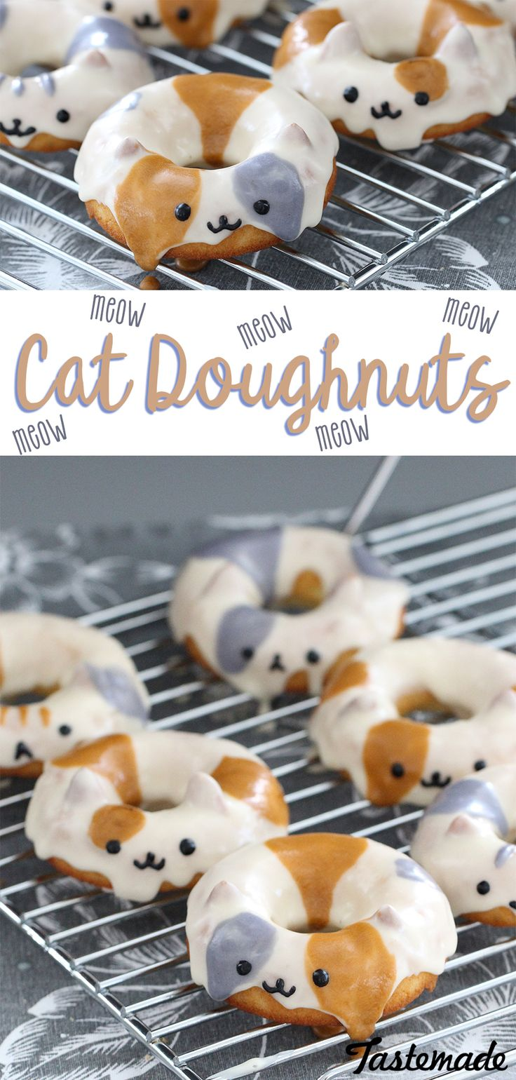 We're paw-sitive you'll want these adorable cat doughnuts right meow.