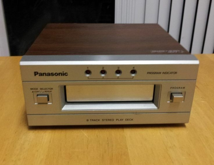 VINTAGE 1970s PANASONIC 8 TRACK STEREO TAPE DECK RS-853 ~ Demo Video