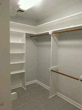 Simple Closet Master Bedroom Closet And Bedroom Closets On Pinterest