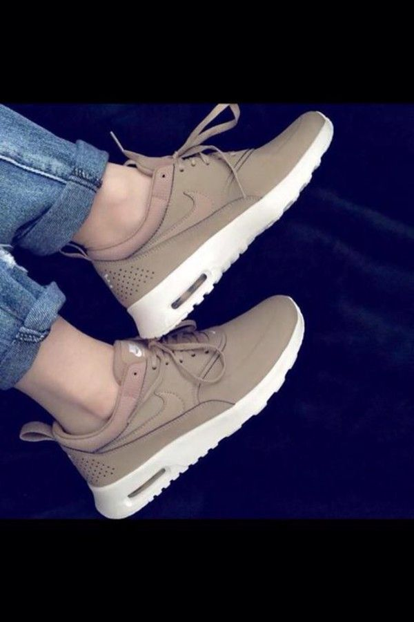 nude shoes sneakers nike nike sneakers shoes khaki nikes nude nike shoes  beige nike shoes for women light brown white air max tan nike theas nike  air nike ...