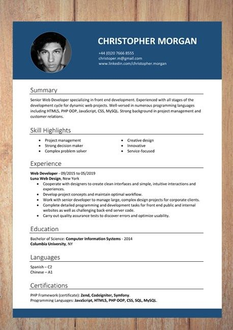 Cv Resume Templates Examples Doc Word Download Infografis