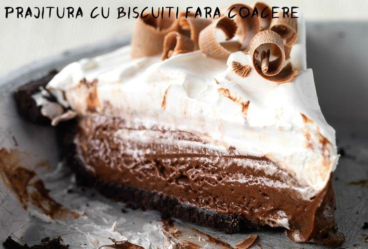 O prăjitură foarte cremoasă și gustoasă fără coacere, cu blat din biscuiți Oreo. Să vedem o rețetă simplă!