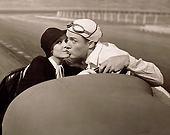 kiss in a car: Kiss, Vintage, Cars