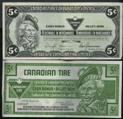 Canadian Tire Money