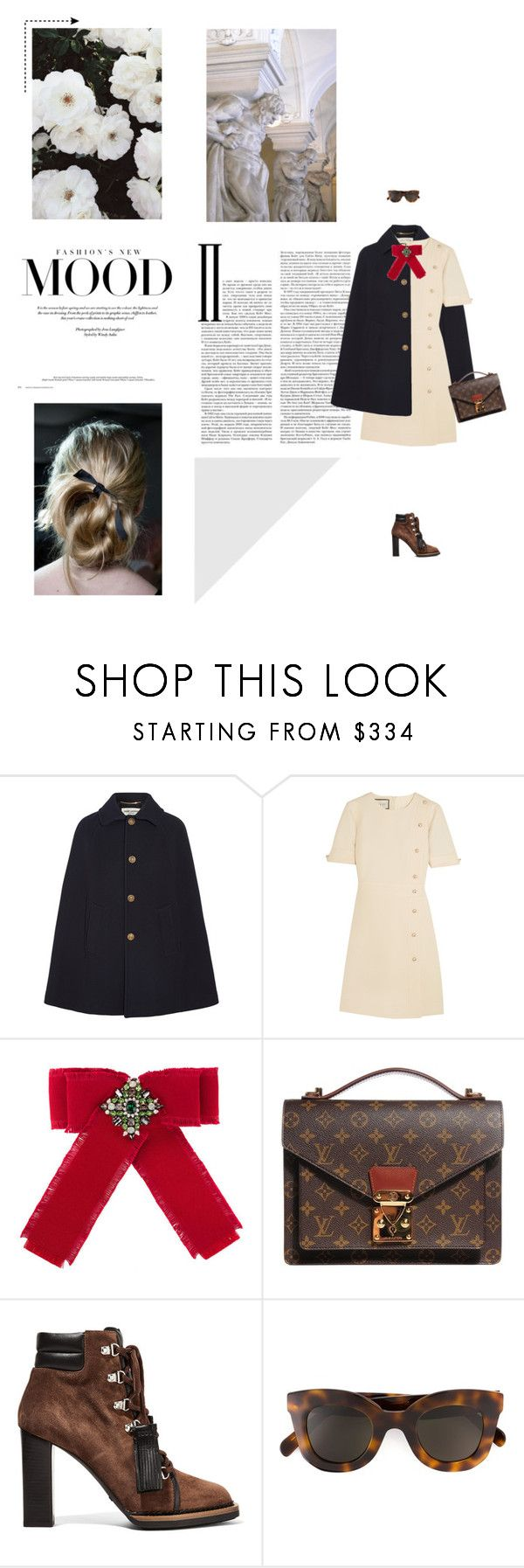 """Prep School"" by homeless-drifter ❤ liked on Polyvore featuring Yves Saint Laurent, Gucci, Louis Vuitton, Tod's, CÉLINE and Zephyr"