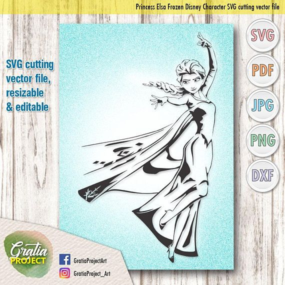 Downloadable Princess Elsa Frozen Disney Character SVG Cutting vector file digital clip art for Cricut Studio or other cutting software. For Art and Craft, drawing and coloring. Love Daschund in SVG JPEG PNG PDF and DXF file for coloring and Silhouette Studio and Cricut Design Space.
