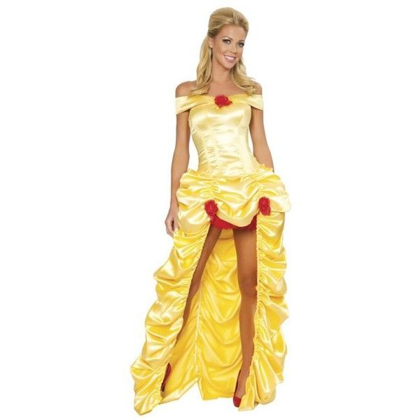 Sexy Deluxe Fairytale Princess Womens Costume ($120) ❤ liked on Polyvore featuring costumes, halloween costumes, multicolor, womens princess halloween costumes, ladies halloween costumes, roma costume, belle costume and sexy women costumes