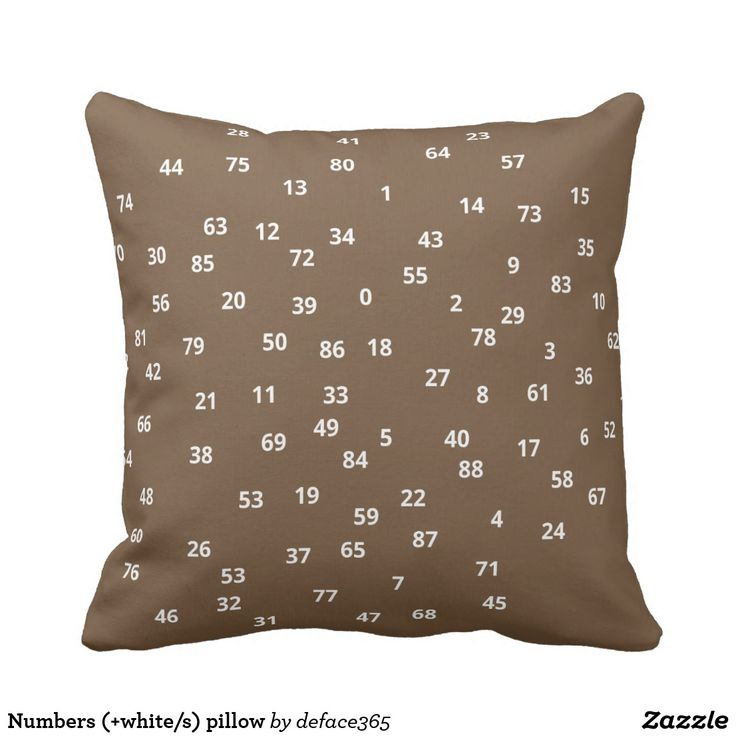 Numbers (+white/s) pillow