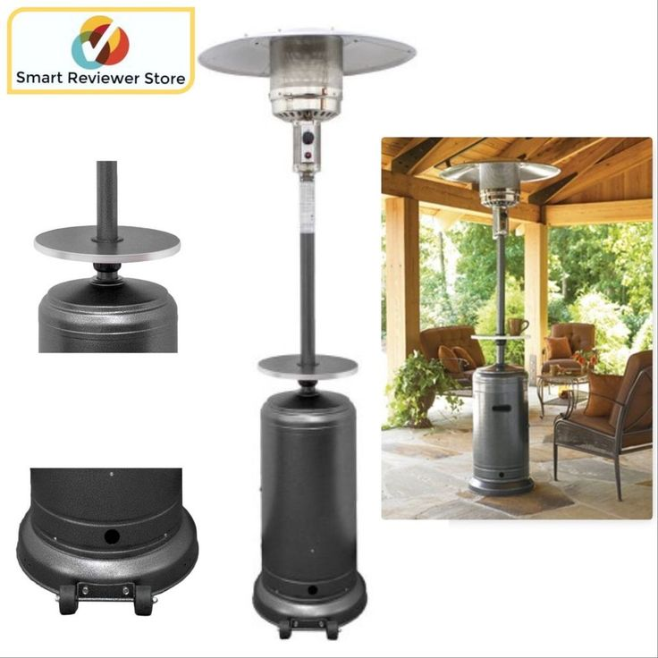 Outdoor Patio Heater With Table Propane Garden Standing Propane Gas 41000  BTUs