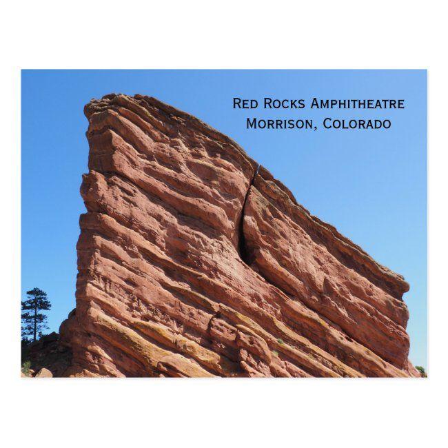 Red Rocks Amphitheatre Morrison Colorado Postcard In 2020 Red Rock Amphitheatre Red Rock Colorado