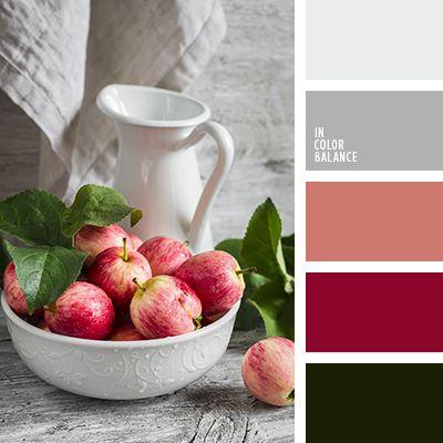 бежевато-серый цвет, белый и темно-серый цвет, болотный зеленый, бордовый цвет, красный и зеленый, оливковый, оттенки зеленого, оттенки красного, палитры для дизайнера, подбор цвета, серый, темно серый.