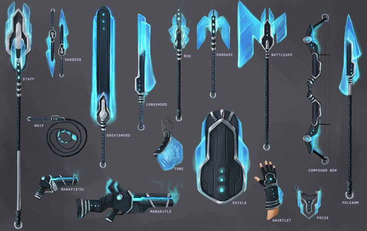 Manashard Weapon Set by *JNetRocks on deviantART