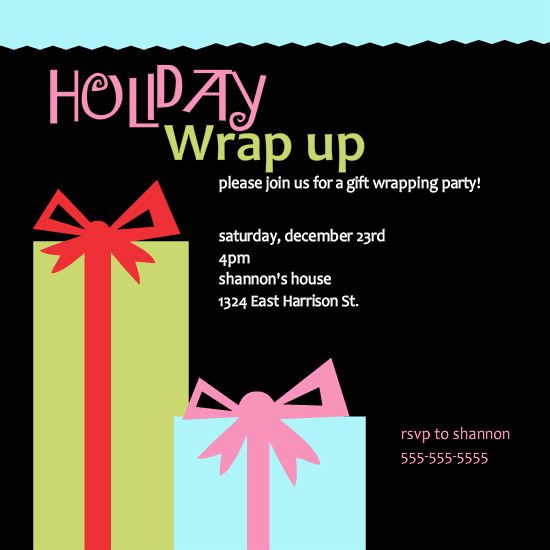 Christmas Party Invitation Quotes: 24 Best Images About Christmas Party Invites On Pinterest