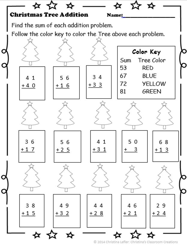 christmas tree addition with regrouping color by number christina 39 s classsroom creations tpt. Black Bedroom Furniture Sets. Home Design Ideas