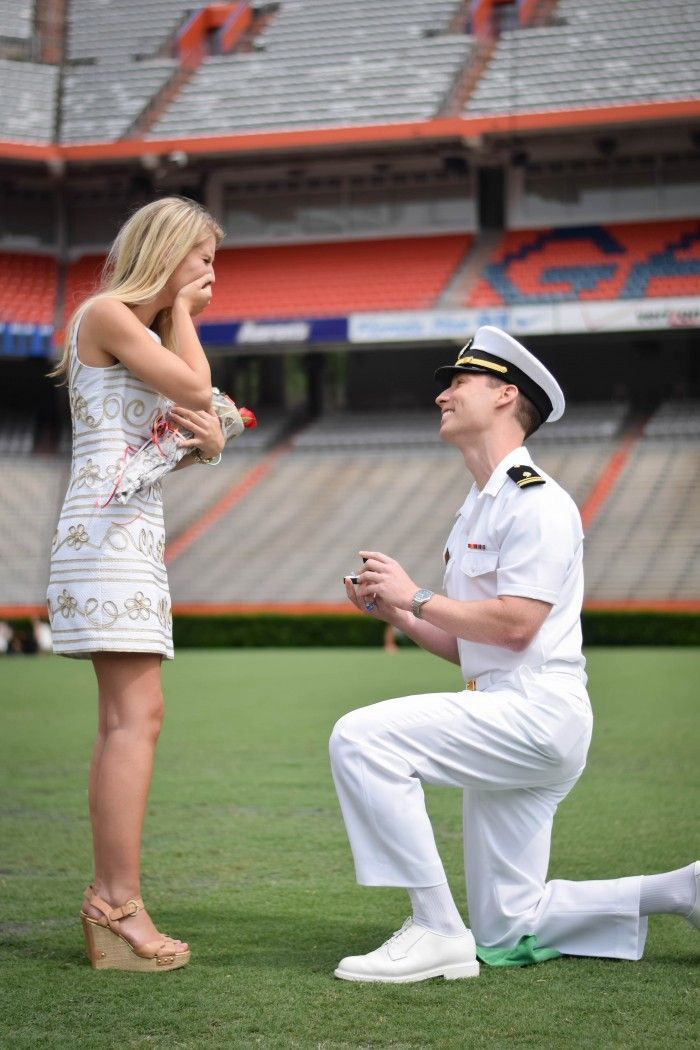 This proposal on the Florida Gators football field is such a sweet surprise, and the video is totally amazing.