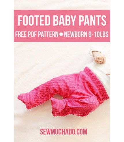 Abby from Sew Much Ado shares a free pattern for making these footed baby pants.The knit pants have feet sewn into the bottom so there's no trying to keep socks on wriggly baby feet. Her f…