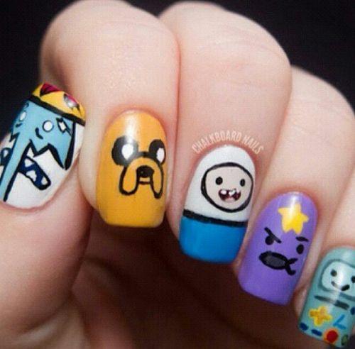 adventure time, animation, art, beemo, bmo, cartoon, cartoon network, cute, dog, finn, finn and jake, finn the human, friends, hora de aventura, ice king, jake, jake the dog, lsp, lumpy space princess, nails, nails art, video games